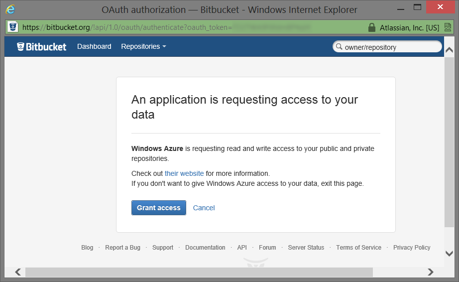 Continuous Deployment with Windows Azure Websites and Bitbucket